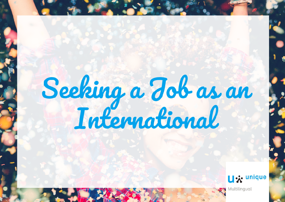 Seeking a Job as an International
